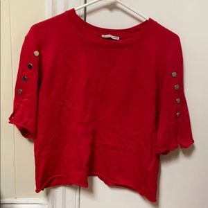 Zara red button shirt